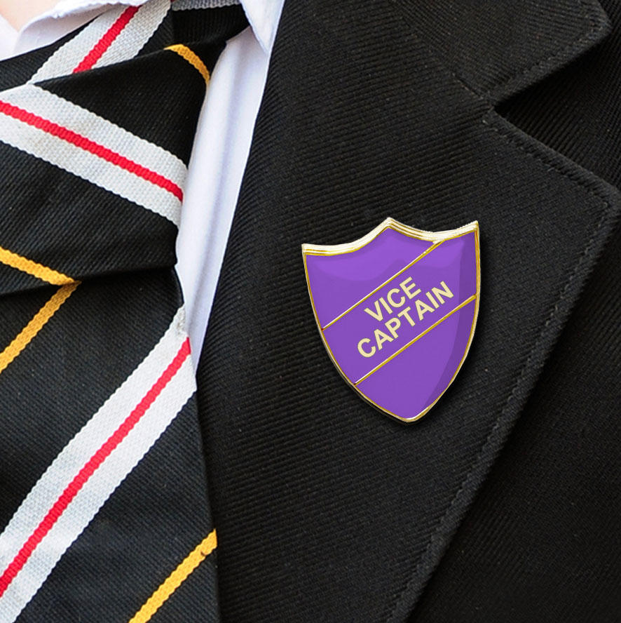 Purple Shield Shaped Vice Captain Badge