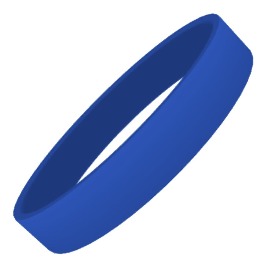 Blue Plain Silicon Wristband