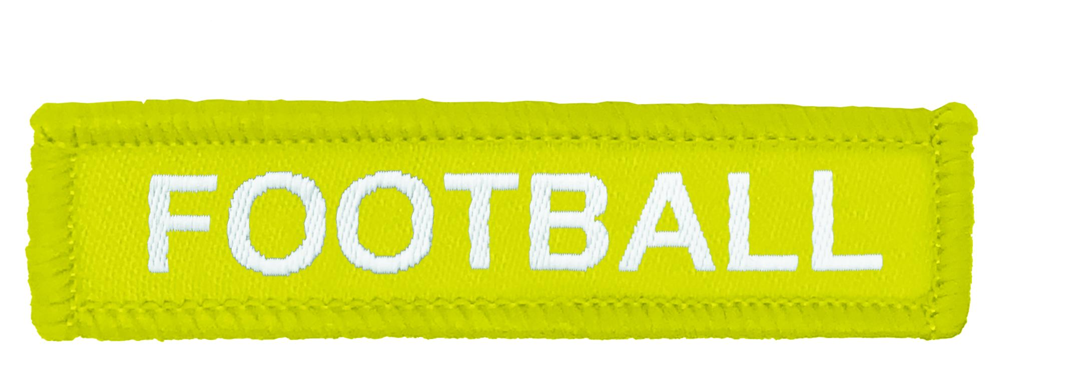 Yellow Woven Football Badge
