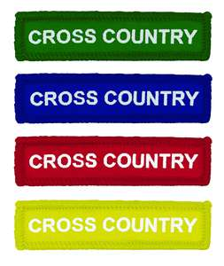 Coloured Woven Cross Country Badges