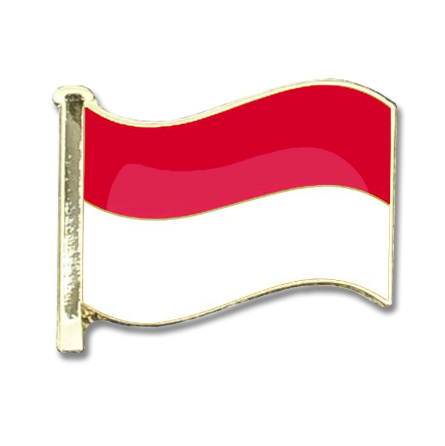 Indonesia Flag Badge