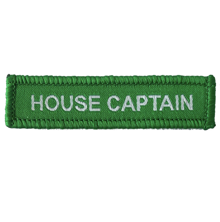 House Captain Woven Patches Green
