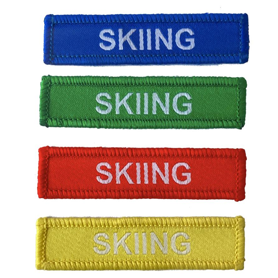 Skiing woven patches
