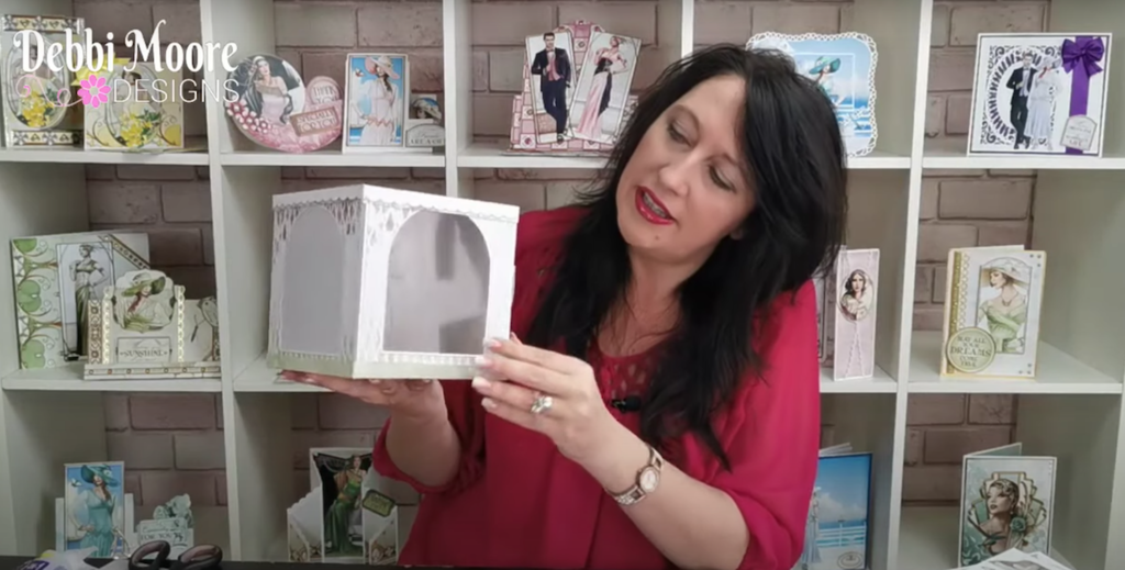 In the Craft Room with Debbi Moore - How to make a corner card and display box