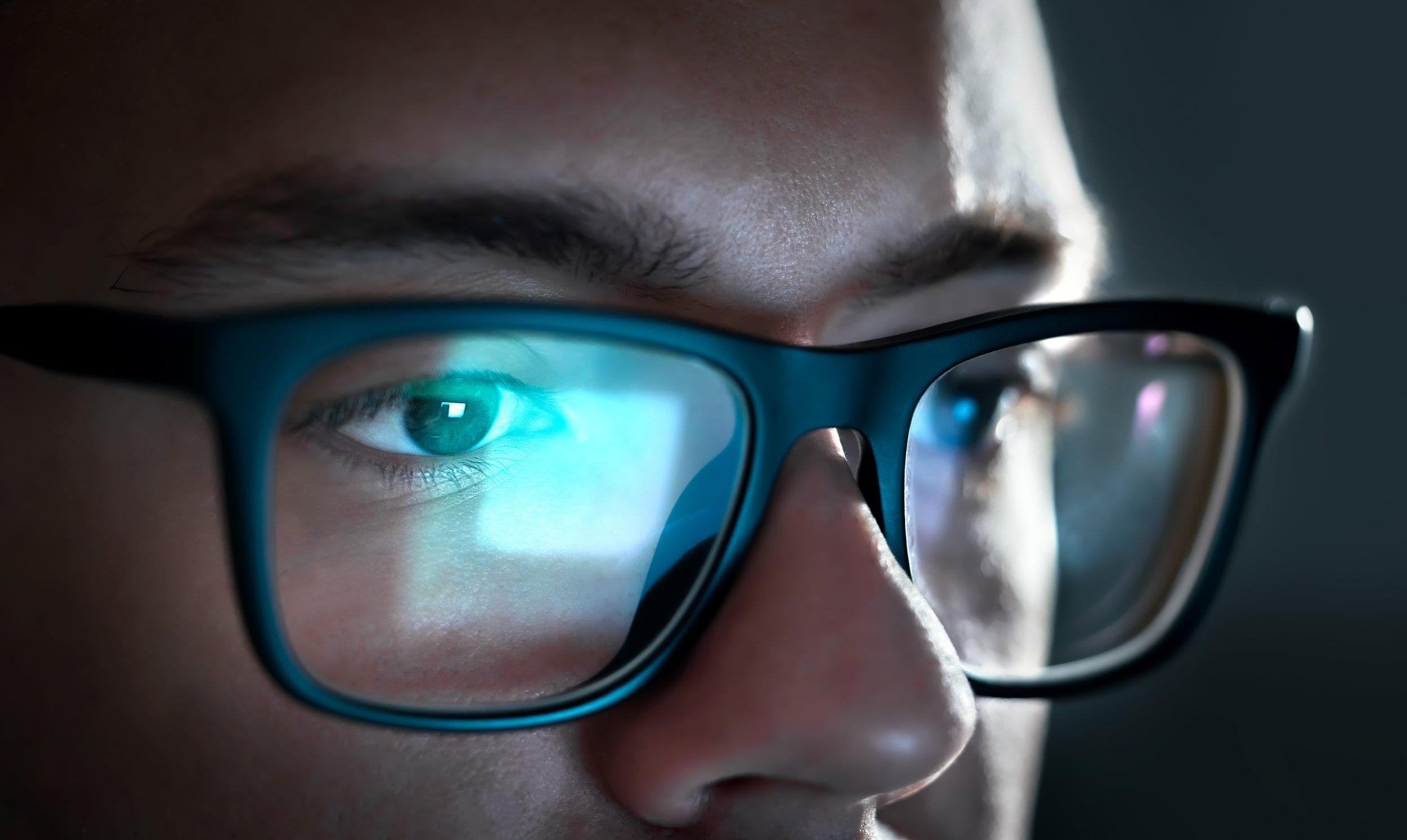Glare on glasses
