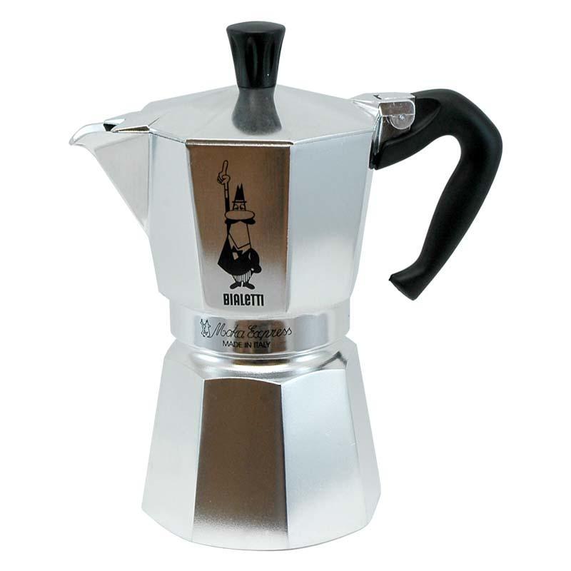 la cafetiere bialetti moka express 6 cups espresso maker. Black Bedroom Furniture Sets. Home Design Ideas