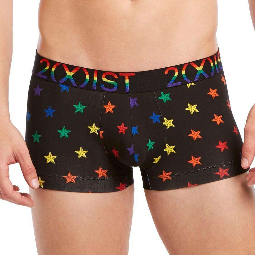 67f0ffbd4a0c4 Front view of 2XIST Pride Cotton Stretch No Show Trunk - Star Print ...