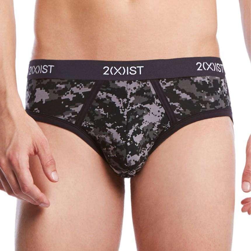 10362ed3315 Front view of 2XIST Graphic Cotton No Show Brief - Digi Camo Black ...