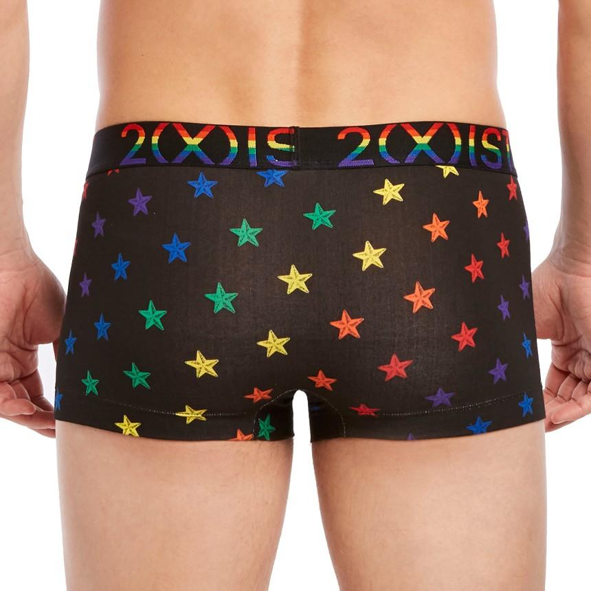 e74fc74b503be ... Rear view of 2XIST Pride Cotton Stretch No Show Trunk - Star Print
