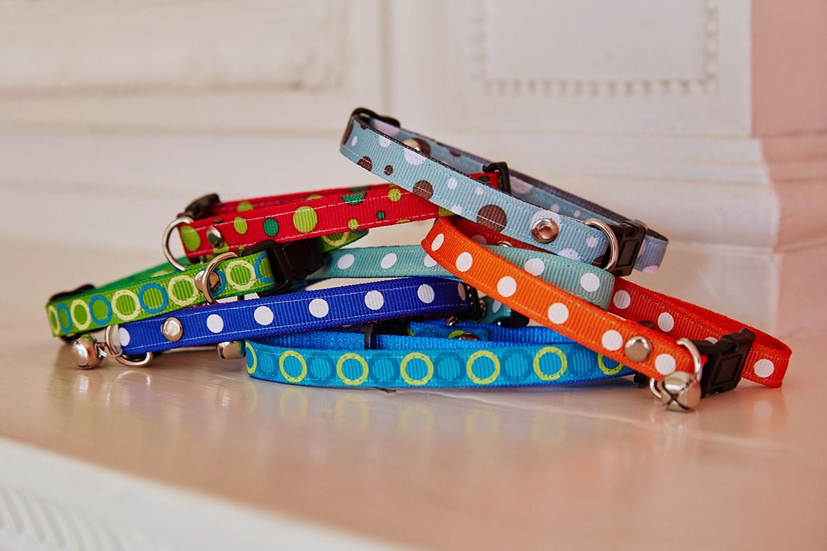 Spotty & Dotty cat safety collar stack from The Natural Pet toy Company