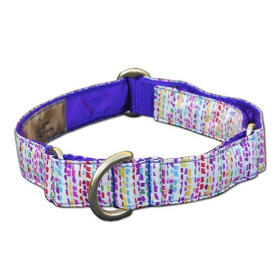 medium handmade martingale liberty print dog collar