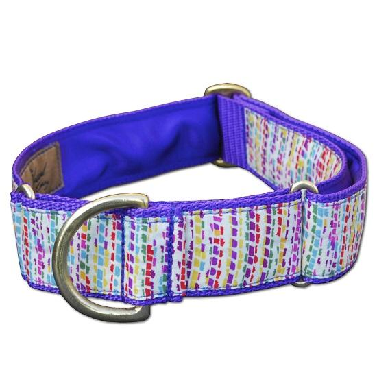 large handmade martingale liberty print dog collar