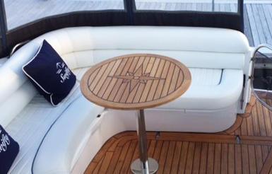 Nautic Star Round Teak Boat Table Marine Teak