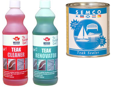 Teak Cleaner Renovator Amp Semco Sealer Duo Pack