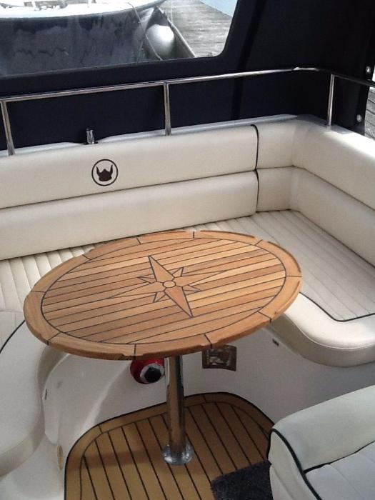 Nautic Star Ellipes Teak Boat Table Marine Teak