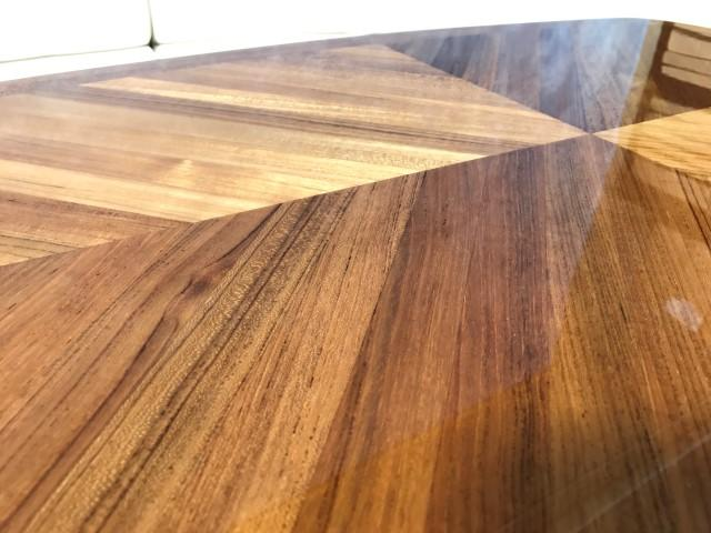 High Gloss Interior Marine Teak Table