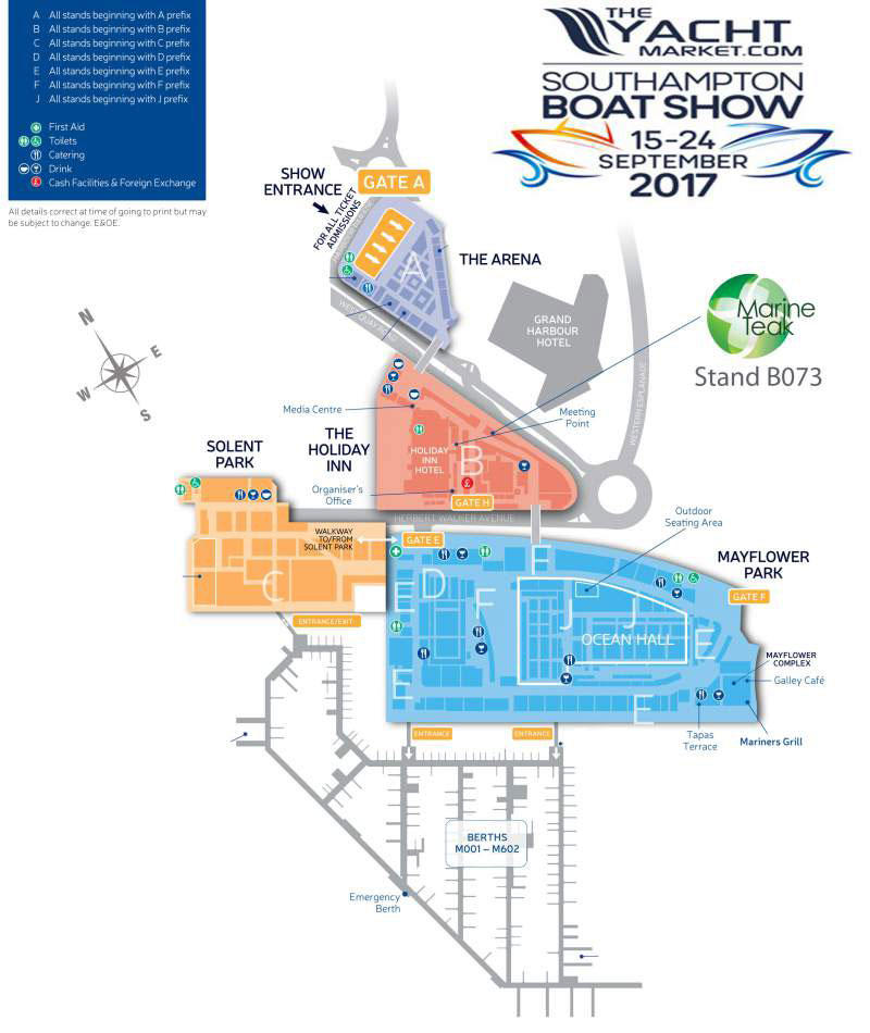 Site Map 2018: Southhampton Boat Show Location