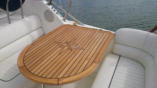 Nautic Star Sealine S23 S25 Teak Boat Table Marine Teak