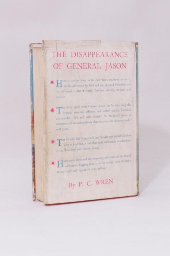 P.C. Wren - The Disappearance of General Jason - John Murray, 1940, First Edition.