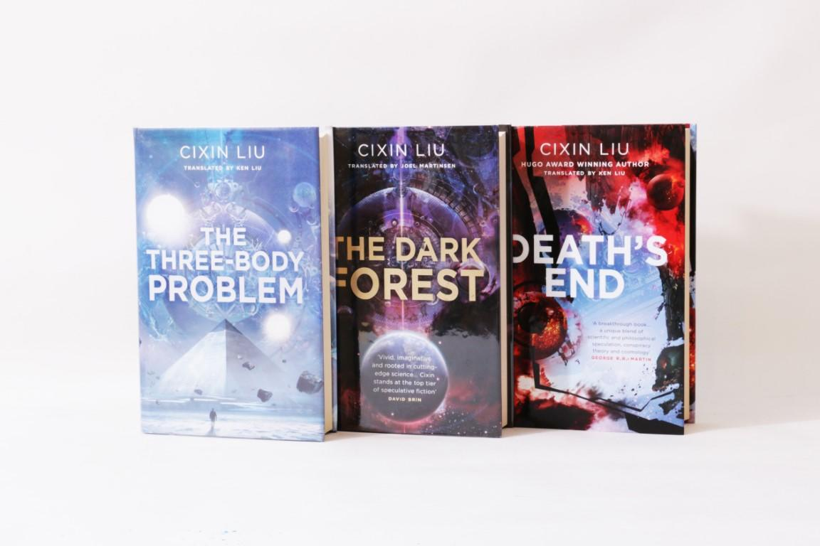 Cixin Liu - Rememberance of Earth's Past Trilogy [comprising] The Three-Body Problem, The Dark Forest, Death's End - Head of Zeus, 2015-2016, First Edition.