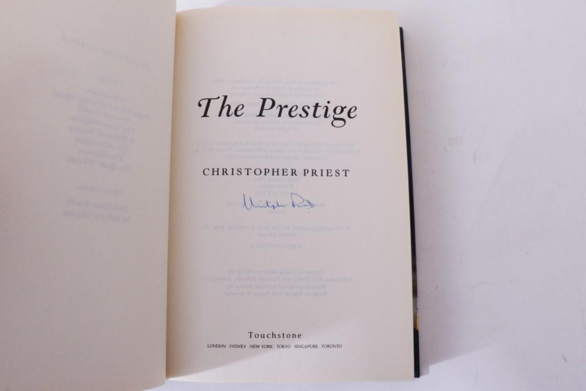 Christopher Priest - The Prestige - Touchstone / Simon & Schuster, 1995, Signed First Edition.