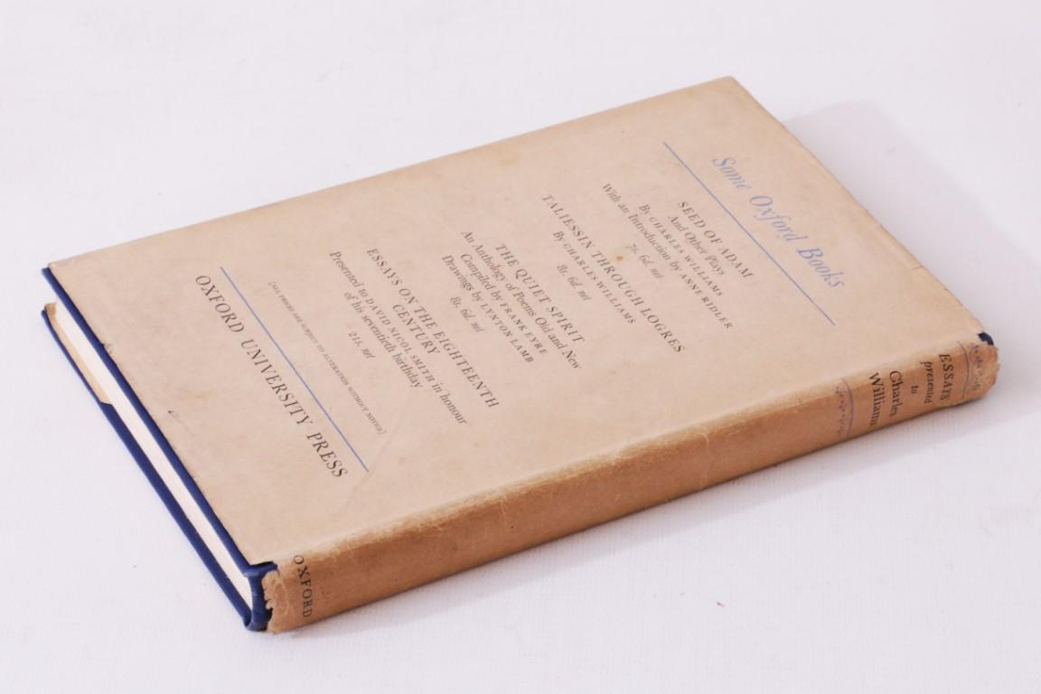 J.R.R. Tolkien, C.S. Lewis and others. - Essays Presented to Charles Williams. Presentation Copy. - Oxford University Press, 1947, Signed First Edition.