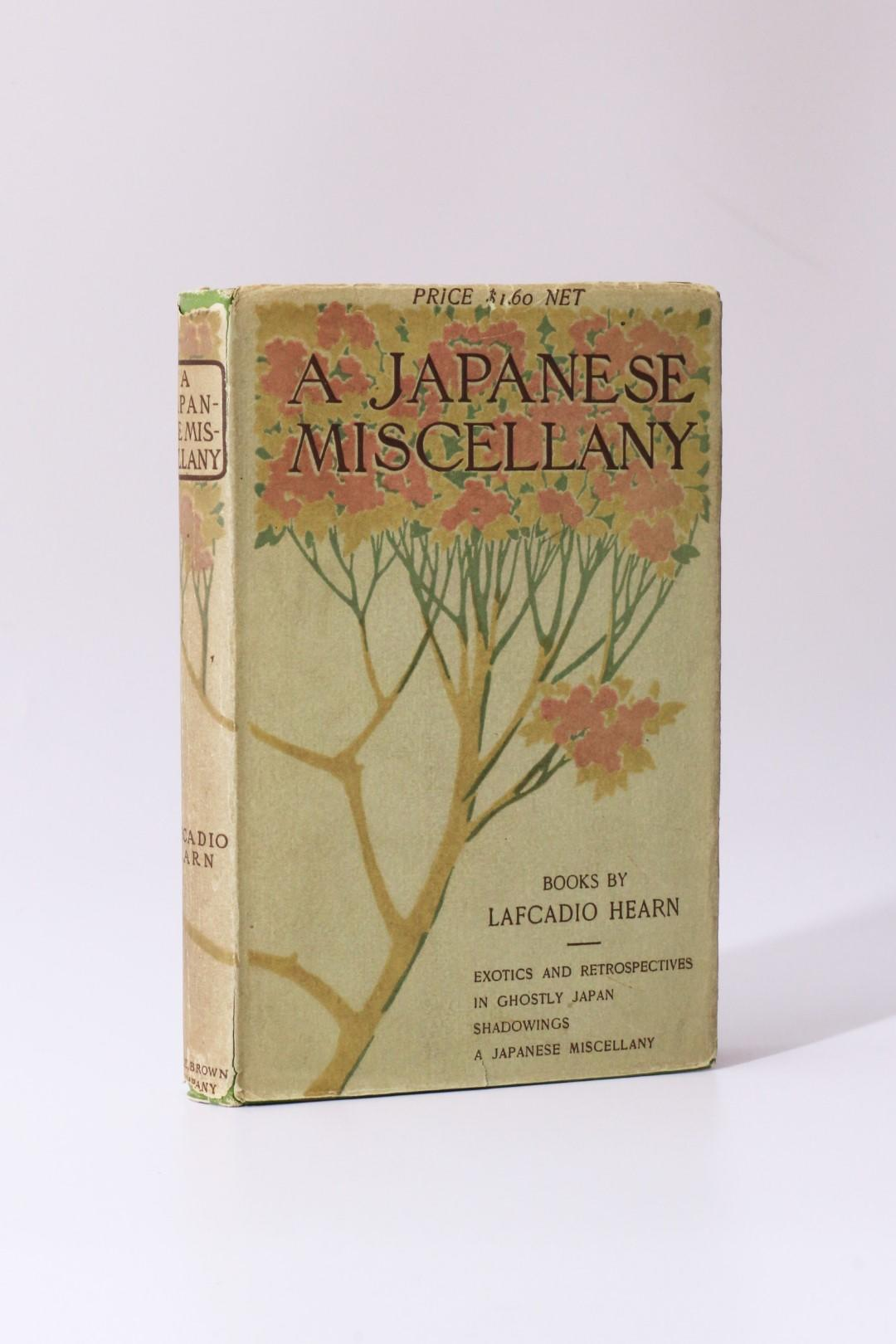 Lafcadio Hearn - A Japanese Miscellany - Little, Brown & Company, 1901, First Edition.
