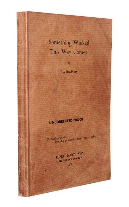 Ray Bradbury - Something Wicked This Way Comes - Rupert Hart-Davis, 1962, UK Proof Edition