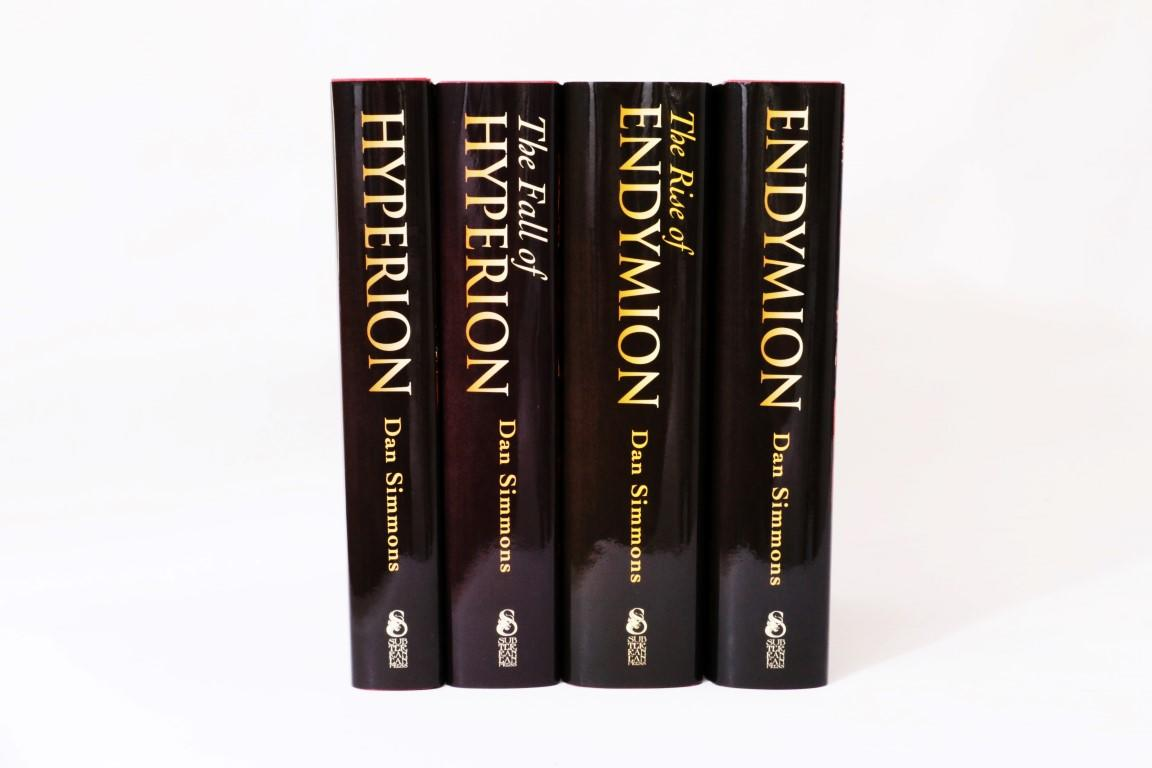Dan Simmons - The Hyperion Cantos [comprising] Hyperion, Fall of Hyperion, Endymion & Rise of Endymion - Subterranean Press, 2012-2016, Limited Edition.  Signed