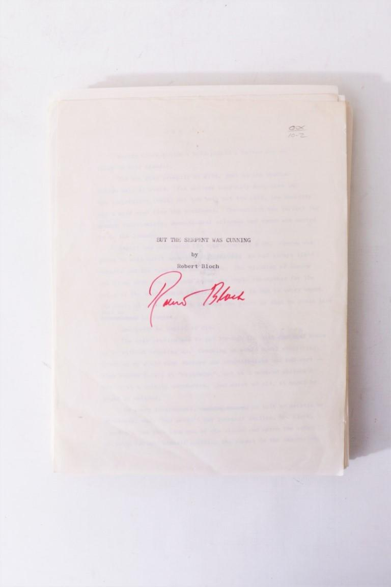 Robert Bloch - But the Serpent was Coming - None, n.d. [c1978], Manuscript. Signed