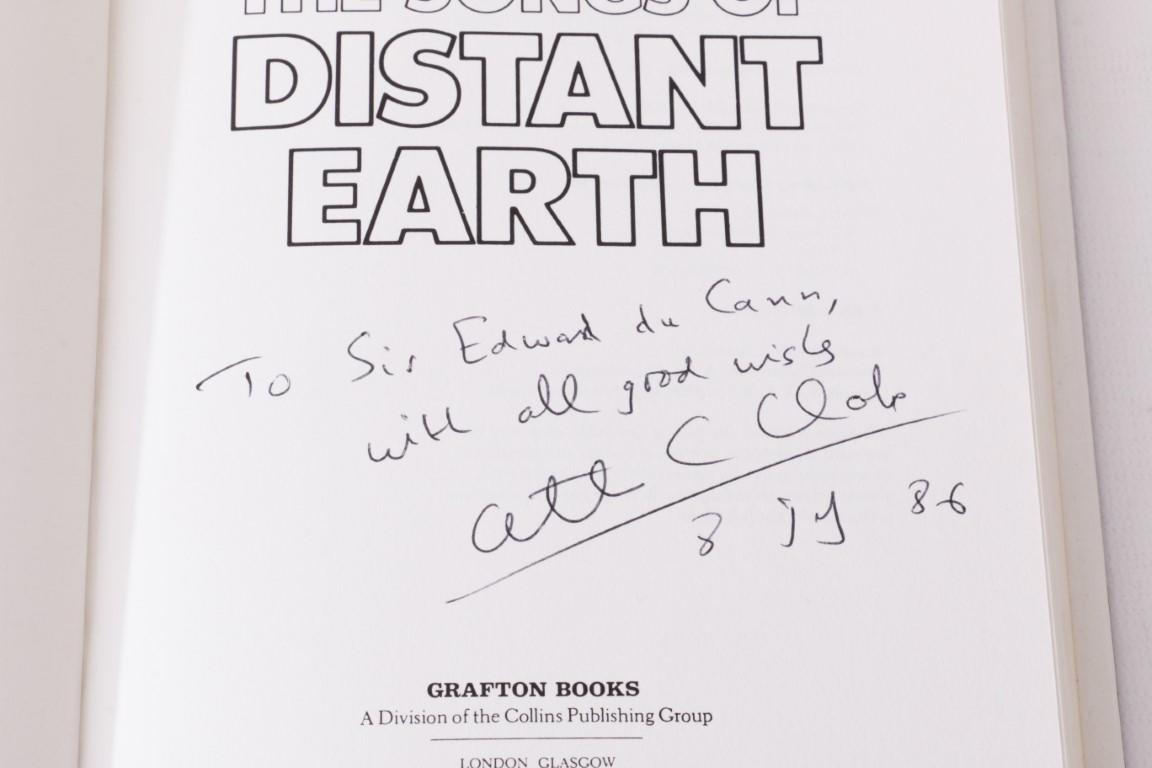 Arthur C. Clarke - The Songs of Distant Earth - Grafton, 1986, Signed First Edition.