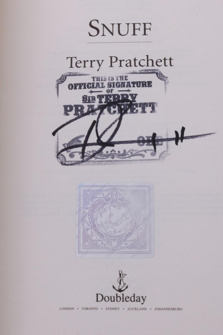 Terry Pratchett - Snuff - Doubleday, 2011, Signed First Edition.