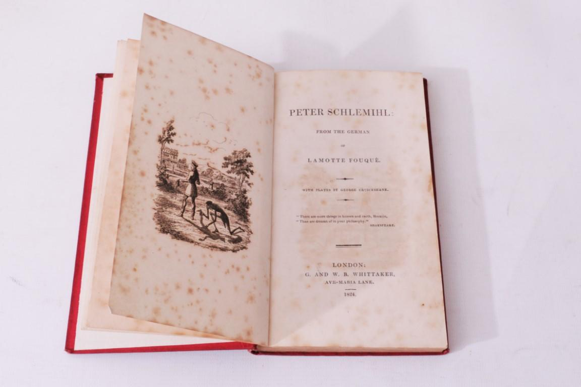 Adelbert von Chamisso, Friedrich De La Motte Fouque [trans.] - Peter Schlemihl - G. and W.B. Whittaker, 1824, First Edition.