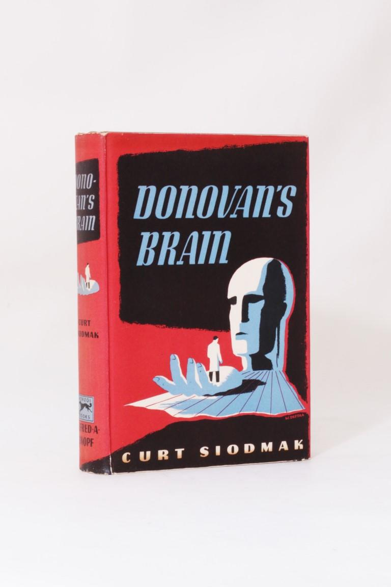 Curt Siodmak - Donovan's Brain - Alfred A. Knopf, 1943, Signed First Edition.