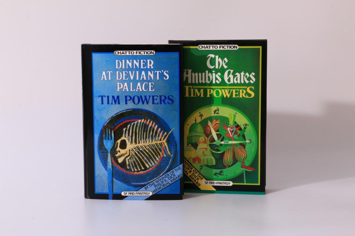 Tim Powers - The Anubis Gates w/ Dinner at Deviant's Palace - Association Copies - Chatto & Windus, 1985-1986, Signed First Edition.
