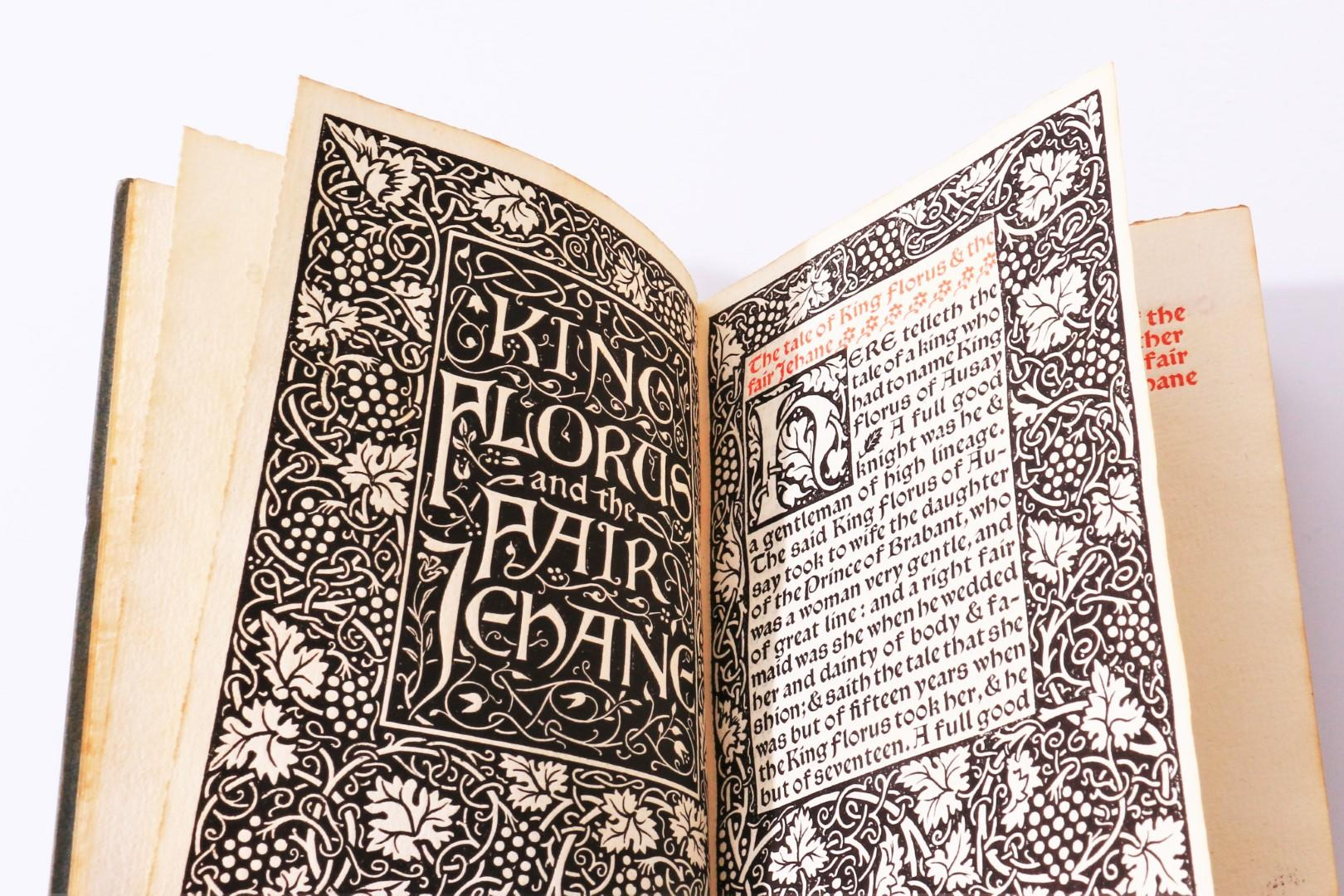 William Morris - The Tale of King Florus and the Fair Jahane - Kelmscott Press, 1893, Limited Edition.