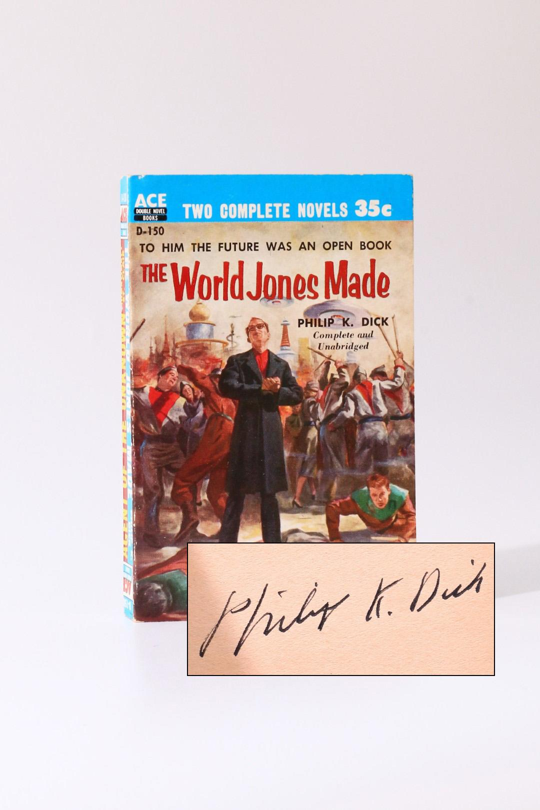 Philip K. Dick - The World Jones Made - Ace Books, 1956, Signed First Edition.