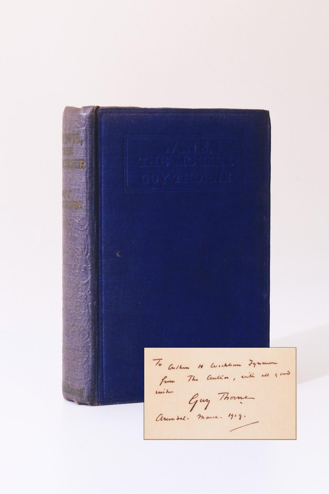 Guy Thorne - Wine the Mocker - John Long, n.d. [1919], Signed First Edition.