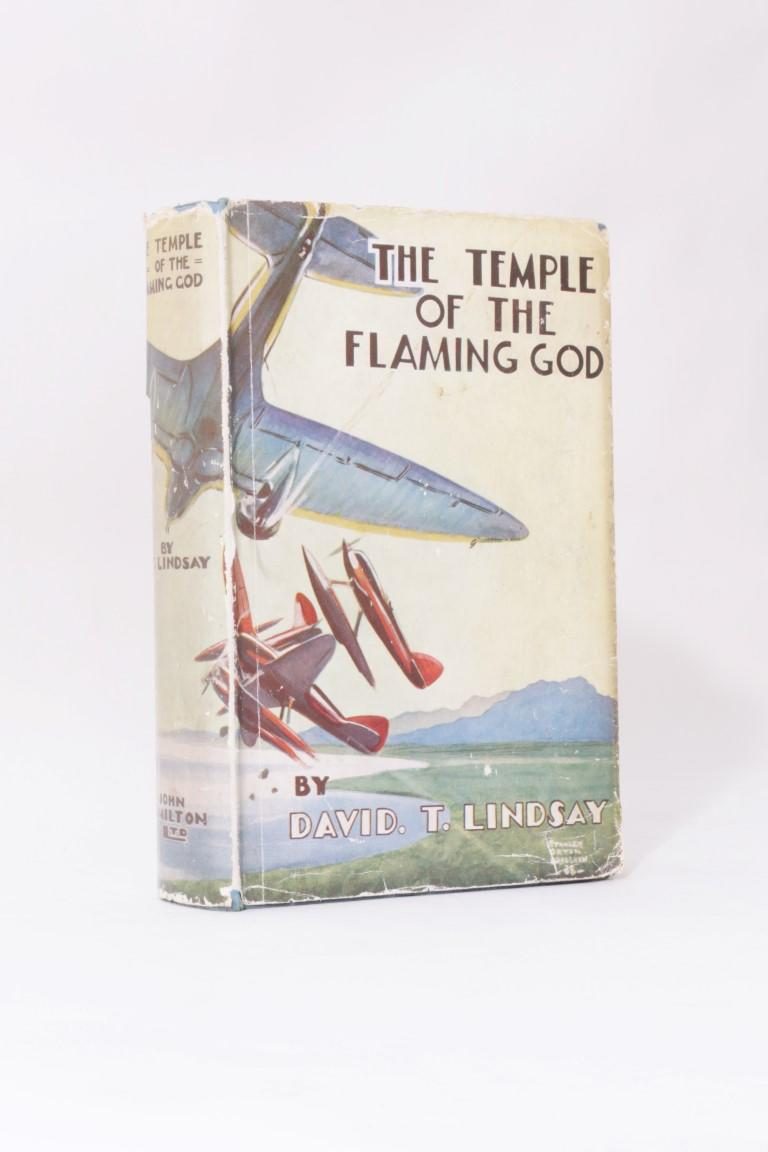 David T. Lindsay - The Temple of the Flaming God - John Hamilton, n.d. [1938 BL], First Edition.
