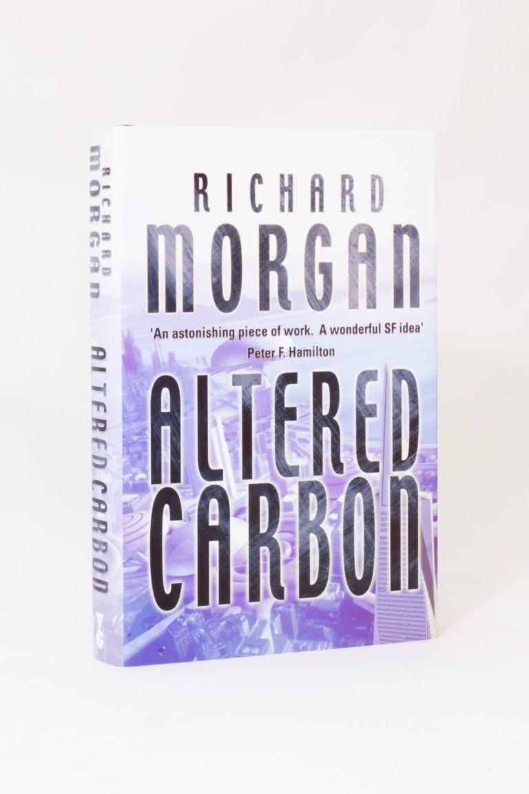 Richard Morgan - The Takeshi Kovacs Novels [comprising] Altered Carbon, Broken Angels and Market Forces w/ proofs - Gollancz, 2002-2004, Signed First Edition.