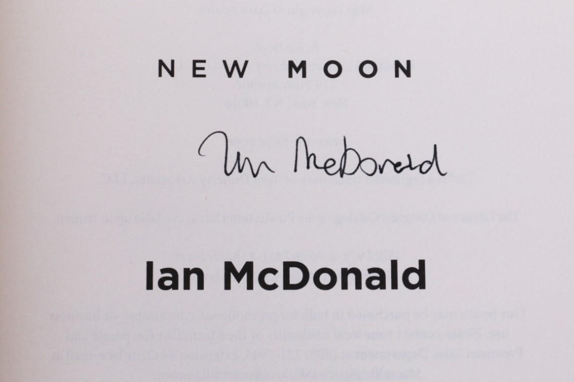 Ian McDonald - Luna: New Moon - Tor, 2015, Signed First Edition.