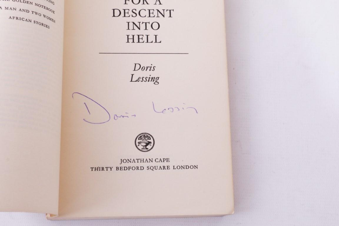Doris Lessing - Briefing for a Descent into Hell - Jonathan Cape, 1971, Proof. Signed