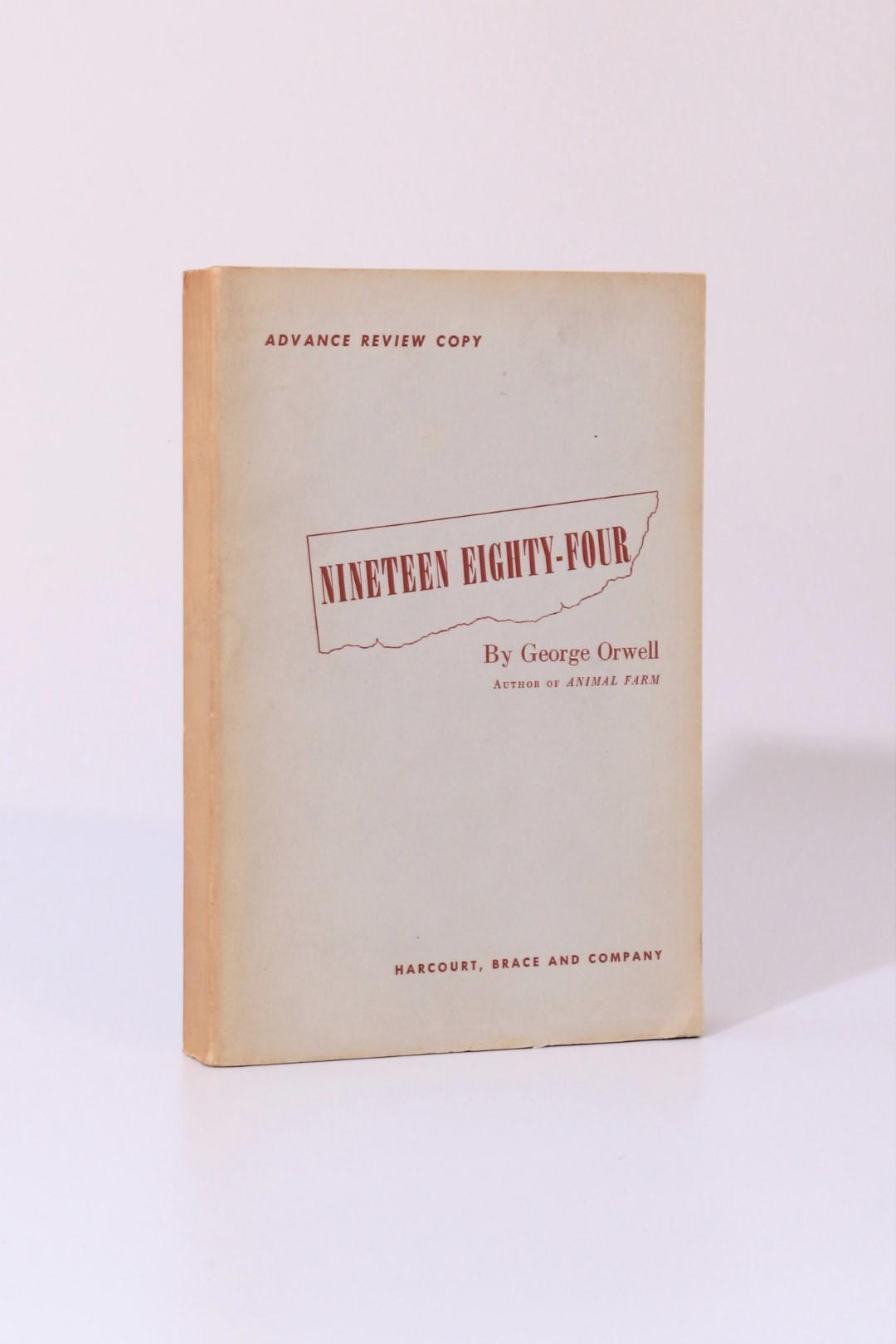 George Orwell - Nineteen Eighty-Four - Harcourt, Brace & Company, 1949, Proof.