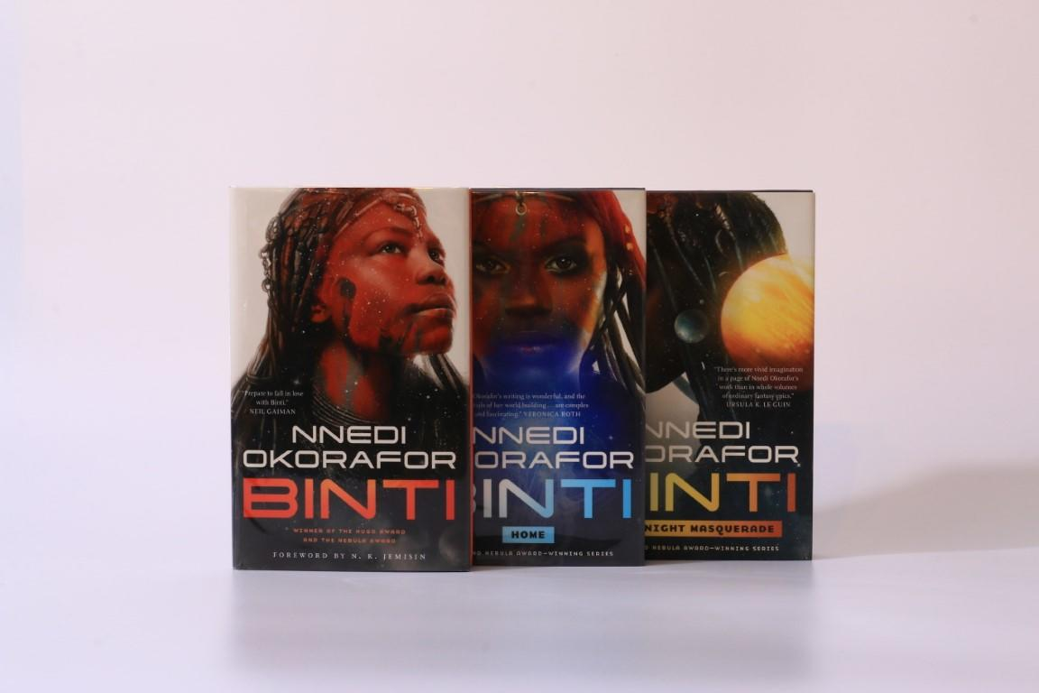 Nnedi Okorafor - Binti w/ Binti: Home & Binti: The Night Masquerade - Tor, 2018, First Edition.