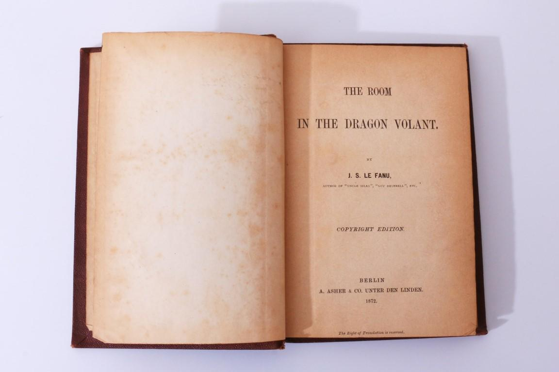 J[oseph] S[heridan] Le Fanu - The Room in the Dragon Volant - A. Asher & Co., 1872, First Thus.