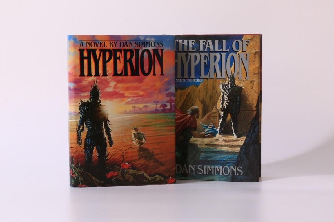 Dan Simmons - Hyperion w/ The Fall of Hyperion - Doubleday, 1989, First Edition.