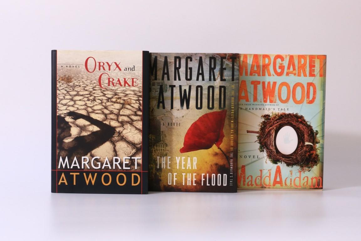 Margaret Atwood - Oryx & Crake, The Year of the Flood & Maddaddam - McClelland & Stewart, 2003-2013, Signed First Edition.