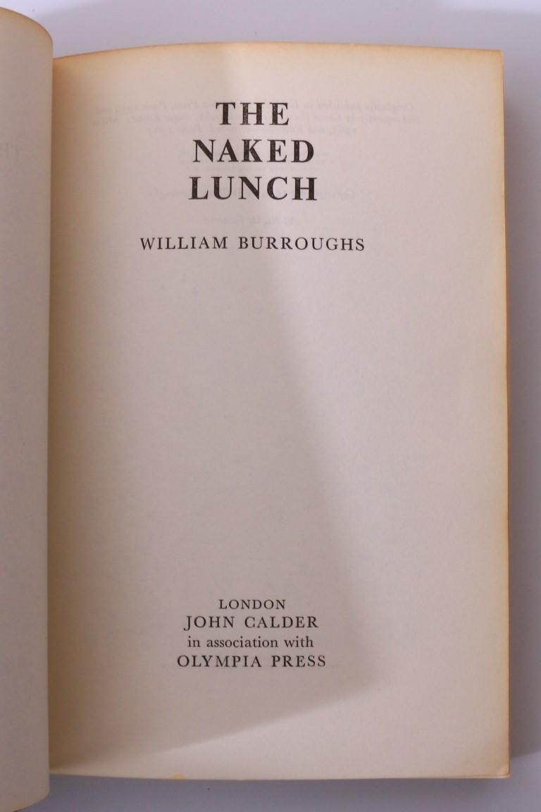 William Burroughs - The Naked Lunch - John Calder, 1964, Proof.