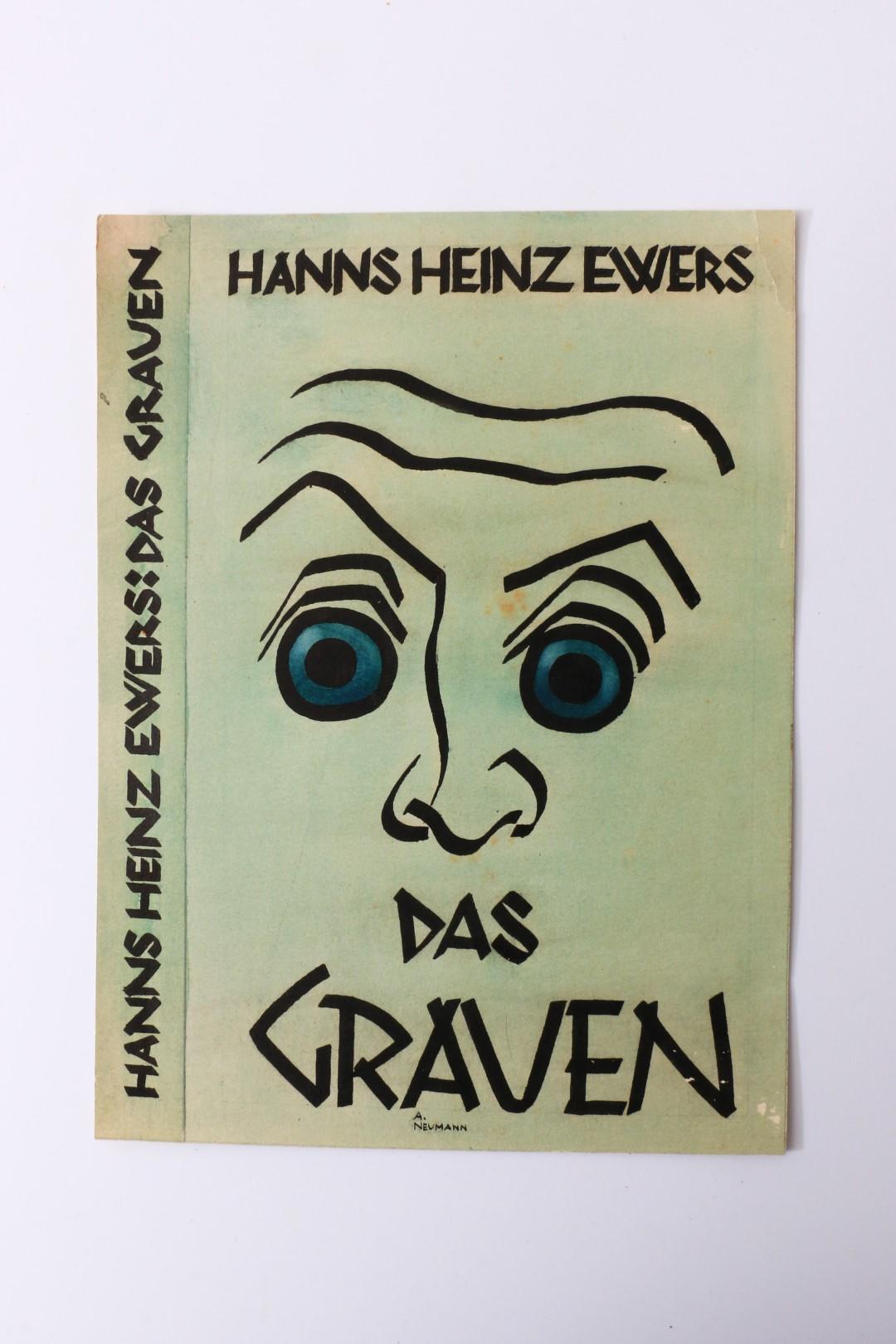 Hanns Heinz Ewers, A Neumann - Dust Jacket Art for Das Grauen - None, c1907?, Manuscript.