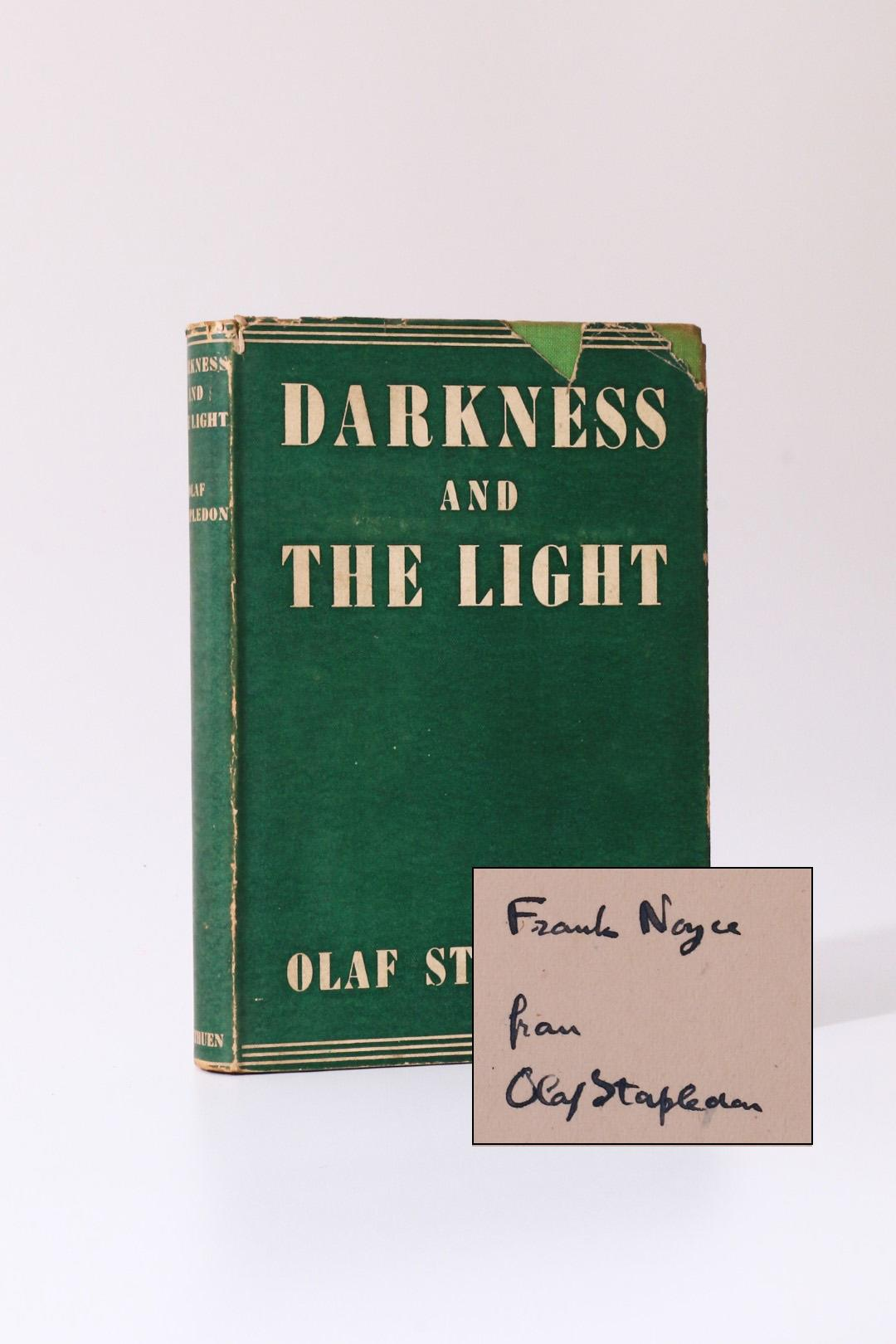 Olaf Stapledon - Darkness and the Light - Methuen, 1942, Signed First Edition.